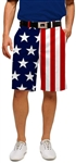 Loudmouth Golf shorts red white blue men's 34