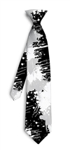 Paint Balls Silver Silk Tie LoudMouth Golf