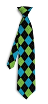 Lime Green Lunar Blue Silk Tie LoudMouth Golf