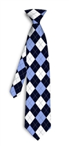 Blue and White Argyle Silk Tie LoudMouth Golf
