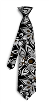 Shagadelic black white Silk Tie LoudMouth Golf