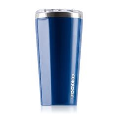 Gloss Riveria Blue custom logo tumbler corkcicle