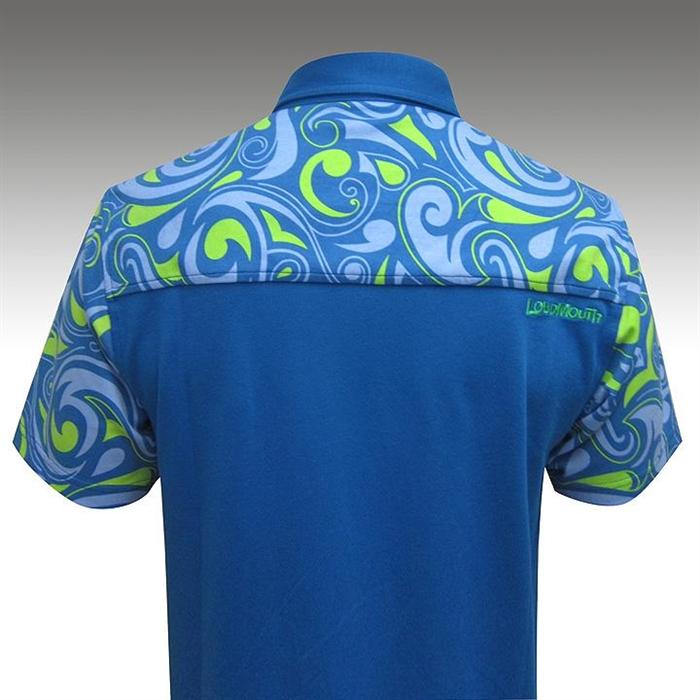Loudmouth Splash Golf Shirt Moisture Wicking Large