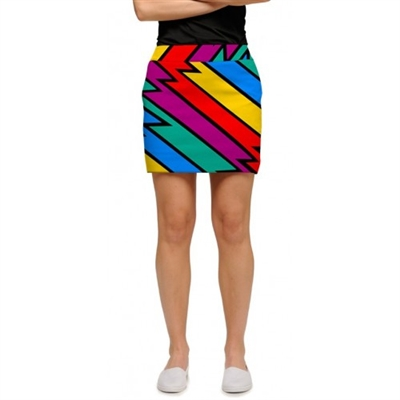 Captain thunderbolt  golf skort by LoudMouth Golf