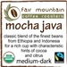 Mocha Java - 16 oz - Fair Trade Organic