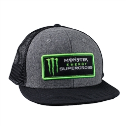 Monster Energy Supercross Stitch Patch Cap