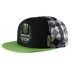 Monster Energy Cup Checkered Cap - Green