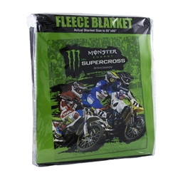 Monster Energy Supercross Fleece Blanket