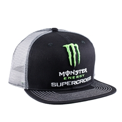 Monster Energy Supercross White Mesh Back Cap