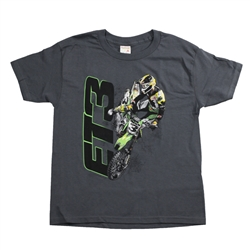 Tomac3 Grey Youth Tee