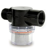 "Shurflo by Pentair Twist-On Water Strainer - 1/2"" Pipe Inlet - Clear Bowl"