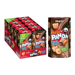 Hello Panda Chocolate Filled Cookies 2.1 Oz 10 Count