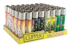 Clipper Hojas Maria Pot Leaf Lighters 48 Count