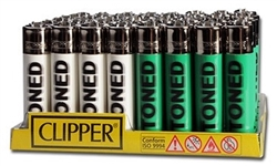 Clipper Stoned Blurry Lighters 48 Count