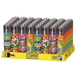 Clipper Lighters Hippie 48 Count