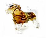 LARGE BULL GLASS PIPE