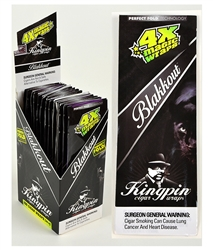 Kingpin Cigar Wraps Blackout 25 Count