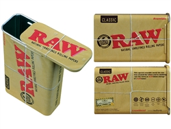 Raw Rolling Papers Metal Tin Storage Box