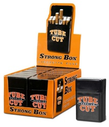 TUBE CUT STRONG BOX CIGARETTE STORAGE CASE 12 COUNT