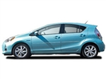 Prius C Painted Body Side Moldings with Chrome Inserts