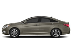 2011-2014 Hyundai Sonata Hybrid Painted Side Body Moldings with Chrome Inserts