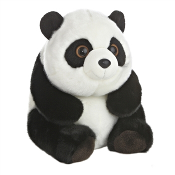 Sitting Lin Lin the Stuffed Panda Bear by Aurora