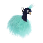 Mora the Designer Clip On Stuffed Peacock Luxe Boutique by Aurora