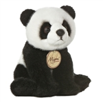 Realistic Stuffed Panda 7 Inch Plush Bear By Aurora