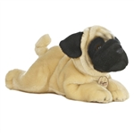 Realistic Stuffed Pug 11 Inch Plush Dog By Aurora