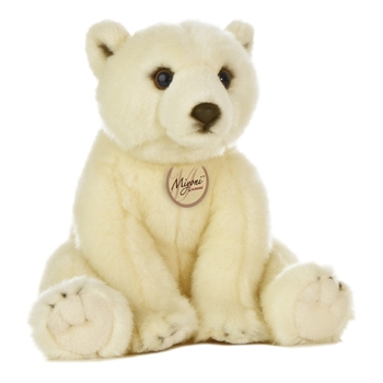 Realistic Stuffed Polar Bear 11 Inch Plush Bear By Aurora