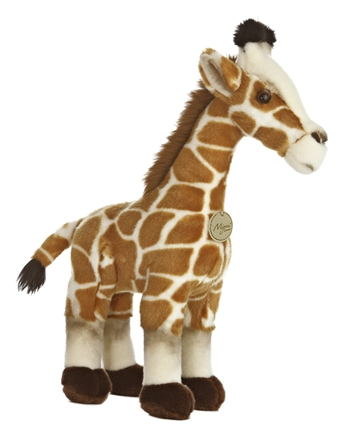 Realistic Stuffed Giraffe 17 Inch Plush Animal By Aurora