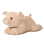 Realistic Stuffed Pig 11 Inch Plush Animal by Aurora