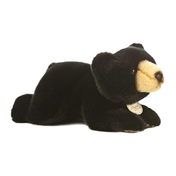 Realistic Stuffed Black Bear 11 Inch Plush Animal by Aurora