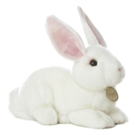 Realistic Stuffed White Rabbit 10 Inch Plush Animal by Aurora