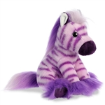 Little Taffy the Stuffed Purple Zebra Magnificent Manes by Aurora