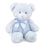 12 Inch Baby Safe Classic Plush Blue Teddy Bear By Aurora At Stuffed Safari