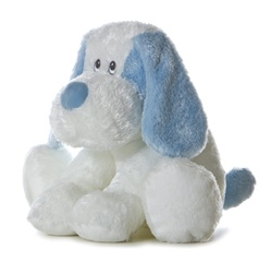 Baby Friendly Blue Scruff 9 Inch Plush Dog By Aurora Baby