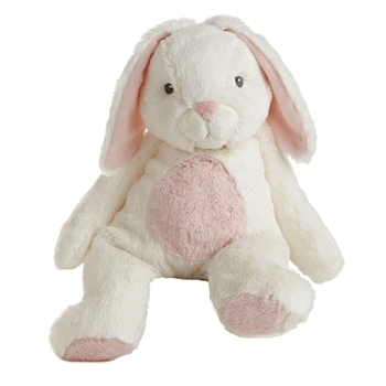 Bun Bun the Plush White and Pink Bunny Quizzies Stuffed Animal by Aurora