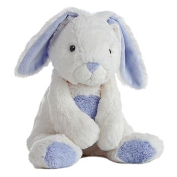Bun Bun the Plush White and Blue Bunny Quizzies Stuffed Animal by Aurora