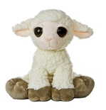 Lea The Plush Lamb Dreamy Eyes Stuffed Animal