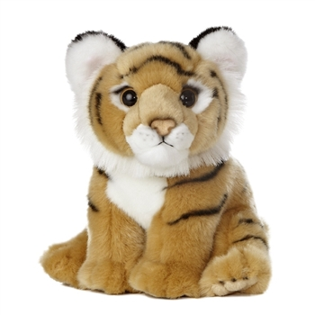 Realistic Stuffed Bengal Tiger Cub 10 Inch Plush Animal by Aurora