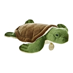 Realistic Stuffed Sea Turtle 11 Inch Plush Animal by Aurora