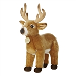 Realistic Stuffed Buck Deer 15 Inch Plush Animal by Aurora