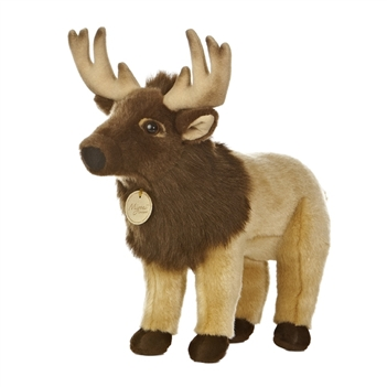 Realistic Stuffed Elk 14 Inch Plush Animal by Aurora