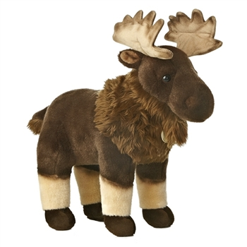 Realistic Stuffed Moose 15 Inch Plush Animal by Aurora