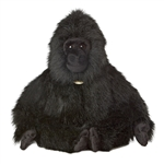 Realistic Stuffed Gorilla 17 Inch Sitting Plush Animal by Aurora