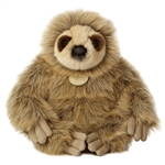 Realistic Stuffed Sloth 12 Inch Plush Animal by Aurora