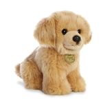 Realistic Stuffed Golden Retriever Puppy 9 Inch Miyoni Plush by Aurora