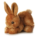 Bitty the Stuffed Brown Rabbit by Aurora