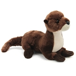 Plush 8 Inch Sliddy the River Otter Mini Flopsie by Aurora